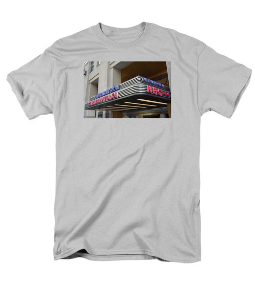 Men's T-Shirt  (Regular Fit) featuring the photograph 30 Rock Jimmy Fallon Marquee by Melinda Saminski