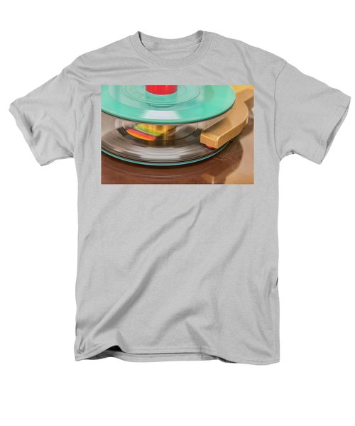 45 Rpm Record In Play Mode Men's T-Shirt  (Regular Fit)