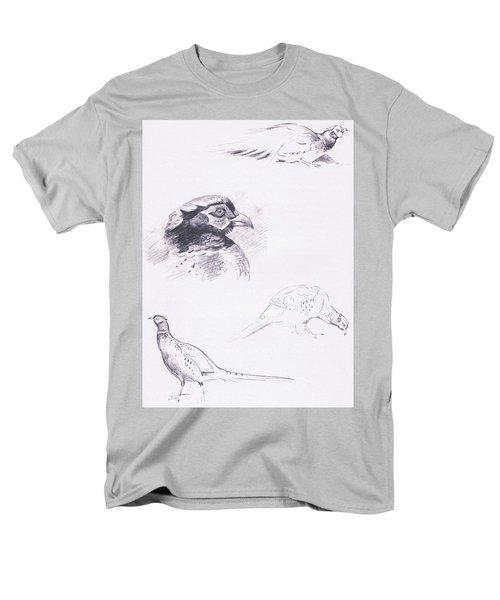 Pheasants Men's T-Shirt  (Regular Fit) by Archibald Thorburn