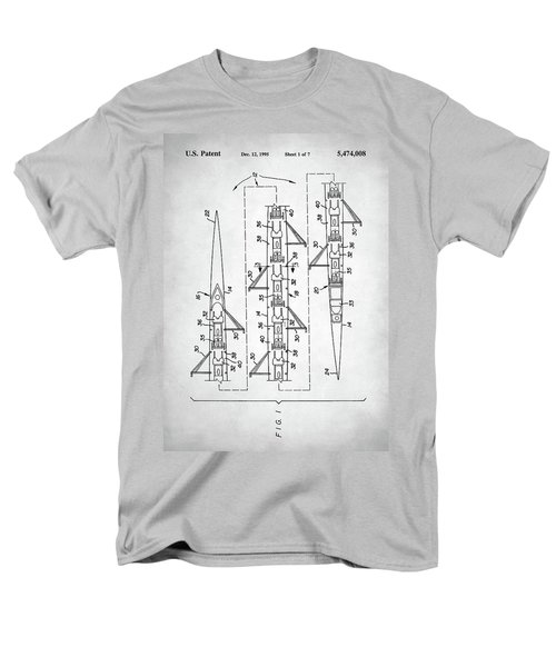 Men's T-Shirt  (Regular Fit) featuring the digital art 8 Man Rowing Shell Patent by Taylan Apukovska
