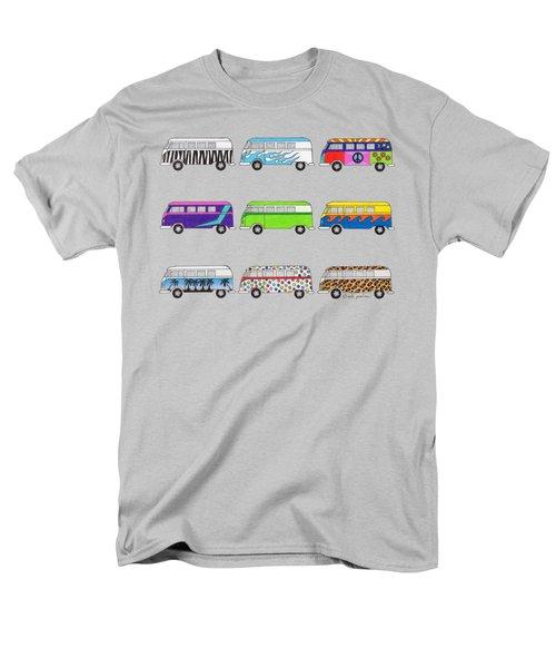 9 Wild Buses Men's T-Shirt  (Regular Fit) by Rita Palmer