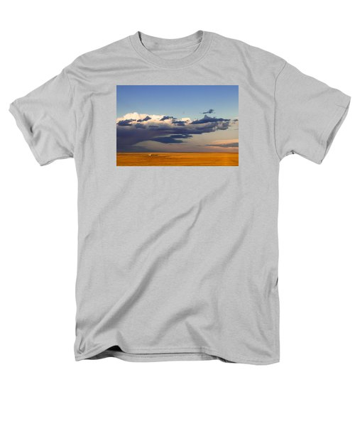 Men's T-Shirt  (Regular Fit) featuring the photograph A Barn On The Prairie by Monte Stevens