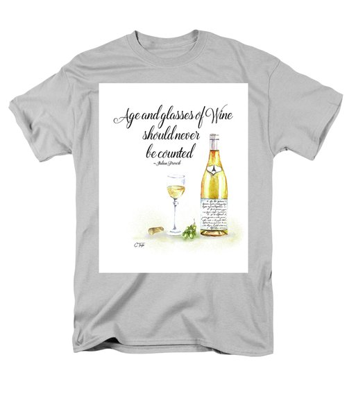 Men's T-Shirt  (Regular Fit) featuring the digital art A Bottle Of White Wine by Colleen Taylor