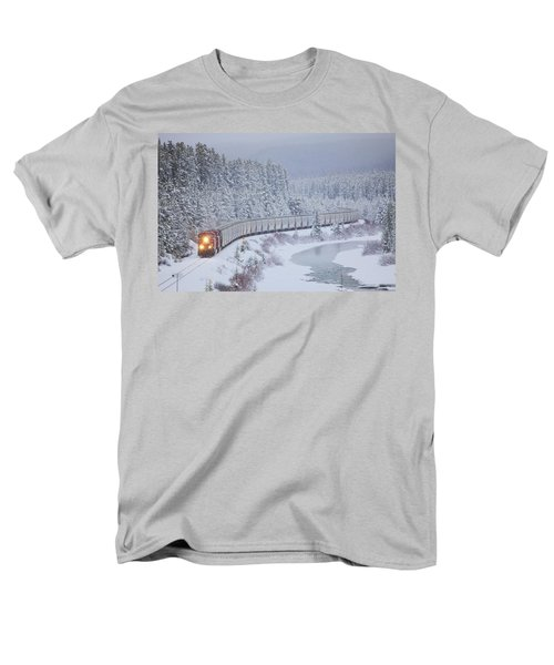 A Canadian Pacific Train Travels Along Men's T-Shirt  (Regular Fit) by Chris Bolin