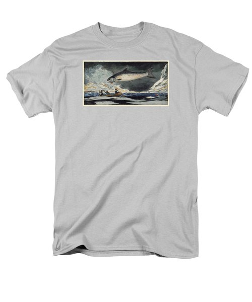 Men's T-Shirt  (Regular Fit) featuring the painting A Good Pool. Saguenay River by Winslow Homer