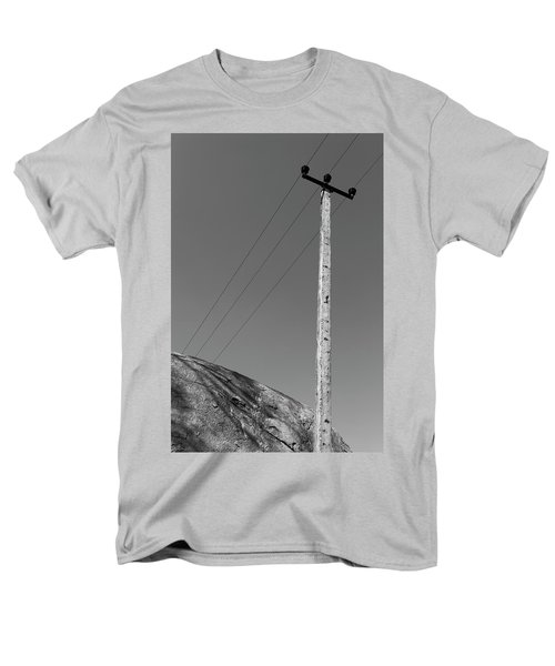 Men's T-Shirt  (Regular Fit) featuring the photograph A Rock And A Pole, Hampi, 2017 by Hitendra SINKAR