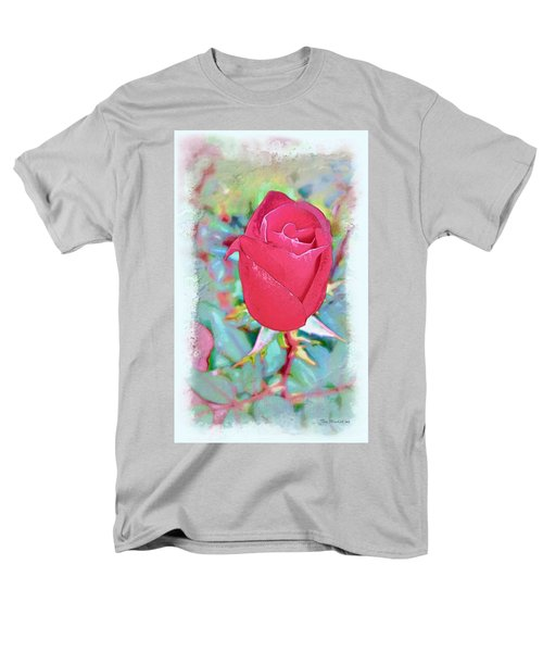 Men's T-Shirt  (Regular Fit) featuring the photograph A Single Rose In October by Joan  Minchak
