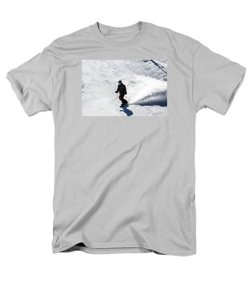 A Snowboarder Descends Aspen Mountain Men's T-Shirt  (Regular Fit) by Carol M Highsmith