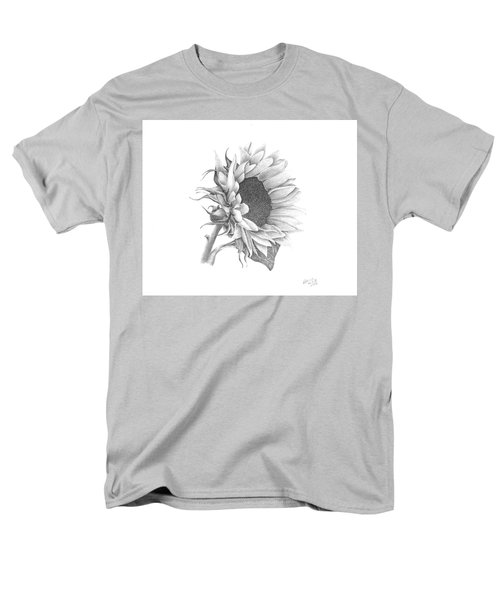 Men's T-Shirt  (Regular Fit) featuring the drawing A Sunflowers Beauty by Patricia Hiltz