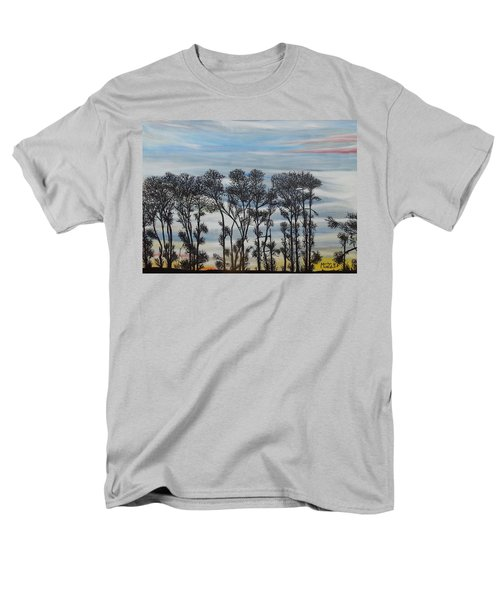 Men's T-Shirt  (Regular Fit) featuring the painting A Treeline Silhouette by Marilyn  McNish