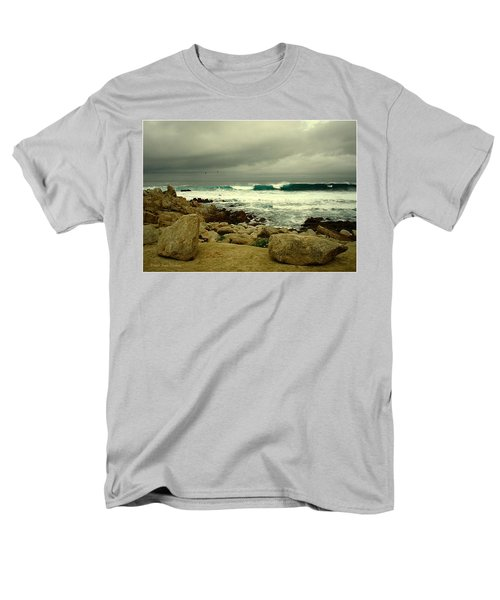 Men's T-Shirt  (Regular Fit) featuring the photograph A Winter Day At The Beach by Joyce Dickens