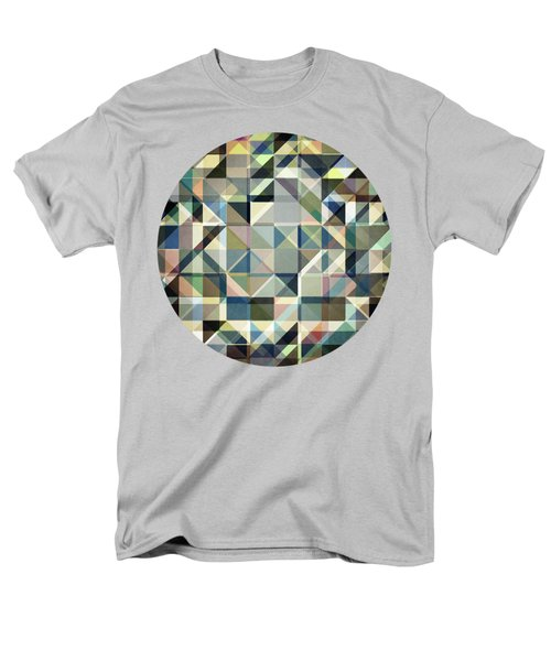 Abstract Earth Tone Grid Men's T-Shirt  (Regular Fit) by Phil Perkins