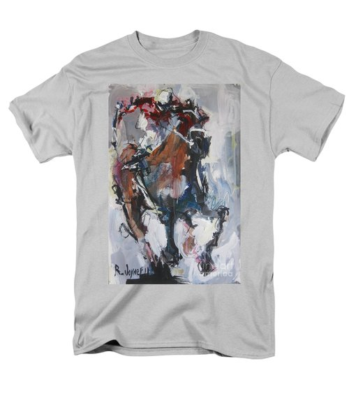 Abstract Horse Racing Painting Men's T-Shirt  (Regular Fit) by Robert Joyner