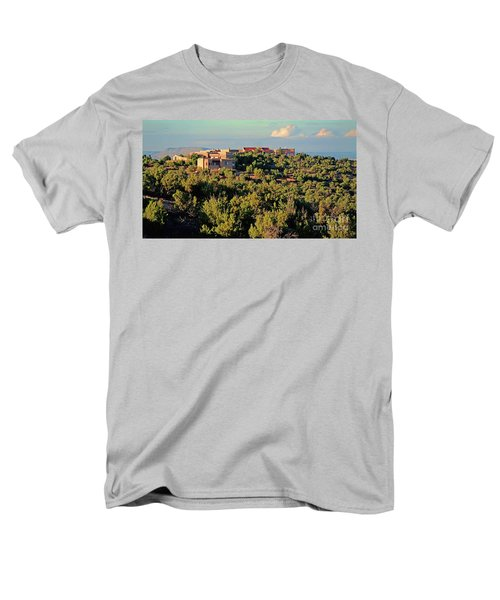 Men's T-Shirt  (Regular Fit) featuring the photograph Adobe Homestead Santa Fe by Diana Mary Sharpton