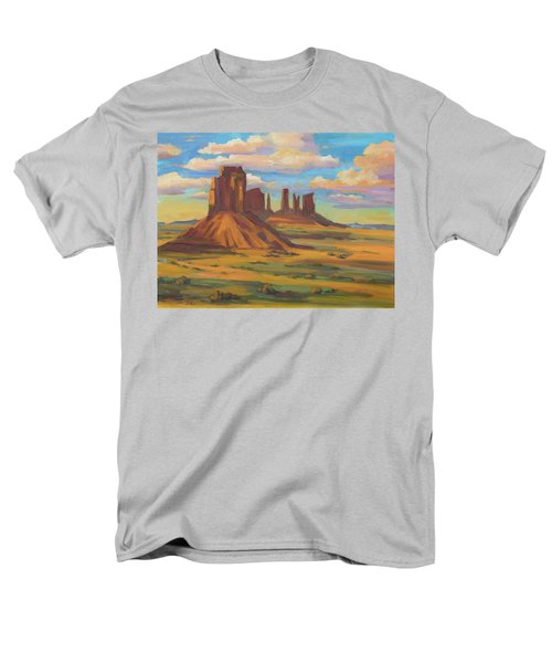 Men's T-Shirt  (Regular Fit) featuring the painting Afternoon Light Monument Valley by Diane McClary