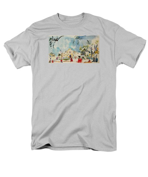 Men's T-Shirt  (Regular Fit) featuring the painting Alamo San Antonio by Becky Kim