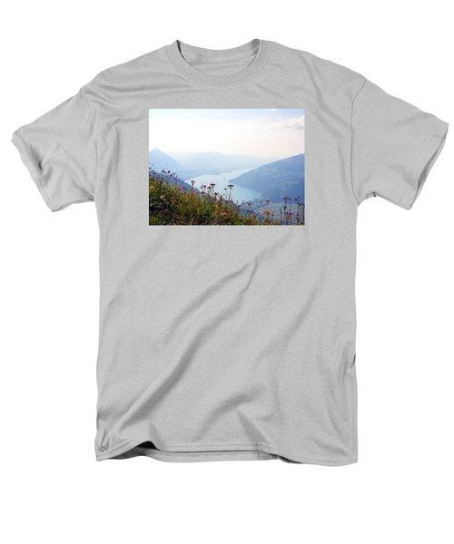 Alpine Flora On Top Of Schynige Platte Men's T-Shirt  (Regular Fit) by Ernst Dittmar