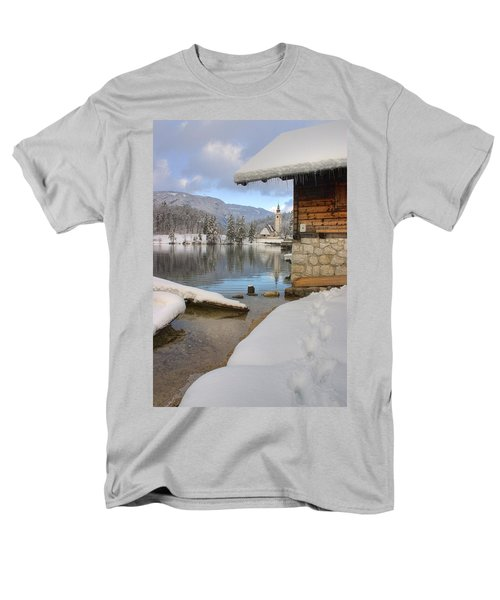 Men's T-Shirt  (Regular Fit) featuring the photograph Alpine Winter Clarity by Ian Middleton