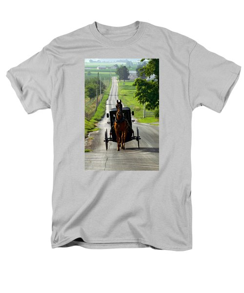Amish Morning Commute Men's T-Shirt  (Regular Fit) by Lawrence Boothby