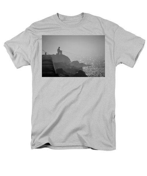 Angling In A Fog  Men's T-Shirt  (Regular Fit)