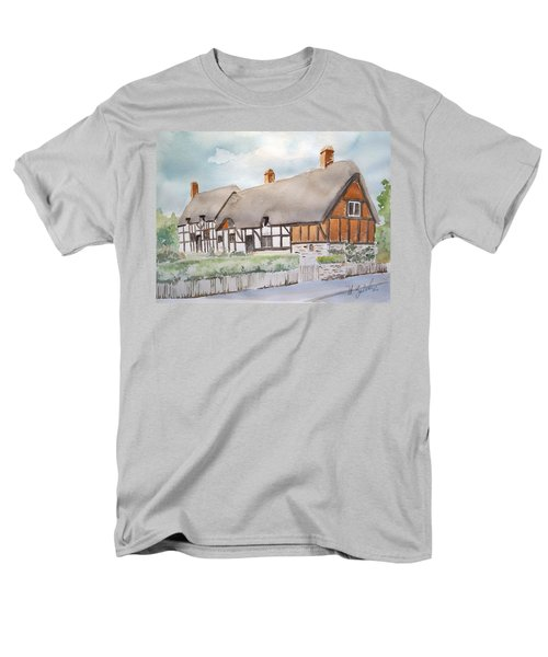 Men's T-Shirt  (Regular Fit) featuring the painting Anne Hathaway's Cottage by Marilyn Zalatan