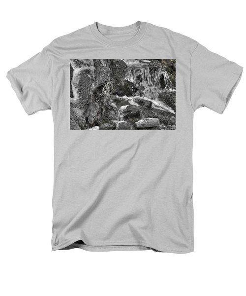 Arboretum Waterfall Bw Men's T-Shirt  (Regular Fit) by Richard J Cassato