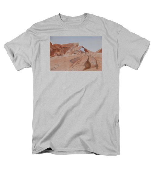 Arch Rock - A Watercolor Sketch Men's T-Shirt  (Regular Fit) by Joel Deutsch