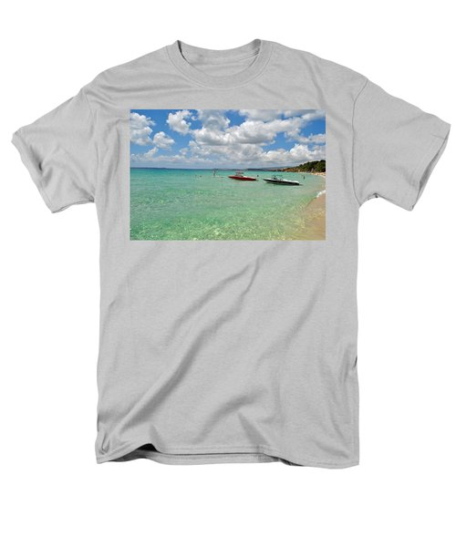 Men's T-Shirt  (Regular Fit) featuring the photograph Argostoli Greece Beach by Robert Moss