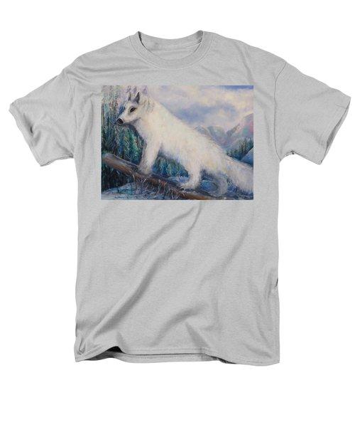 Men's T-Shirt  (Regular Fit) featuring the painting Artic Fox by Bernadette Krupa