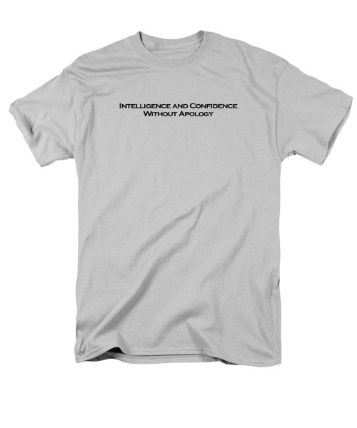 Intelligence And Confidence Men's T-Shirt  (Regular Fit) by David Miller