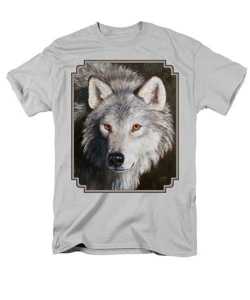 Wolf Portrait Men's T-Shirt  (Regular Fit) by Crista Forest