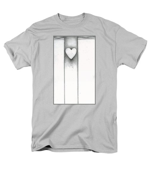 Men's T-Shirt  (Regular Fit) featuring the drawing Ascending Heart by James Lanigan Thompson MFA