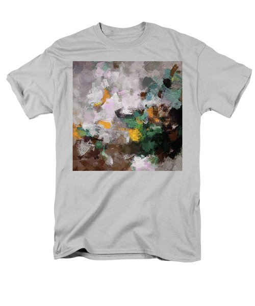 Men's T-Shirt  (Regular Fit) featuring the painting Autumn Abstract Painting by Ayse Deniz