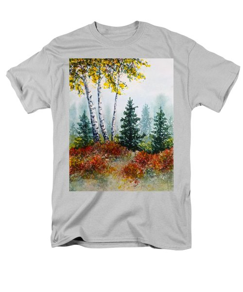 Men's T-Shirt  (Regular Fit) featuring the painting Autumn Birch by Carolyn Rosenberger