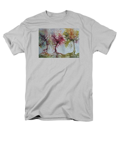 Men's T-Shirt  (Regular Fit) featuring the painting Autumn Colors by Elena Oleniuc