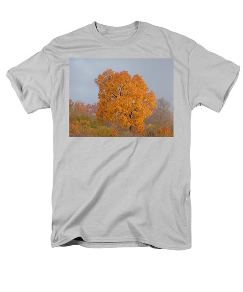 Men's T-Shirt  (Regular Fit) featuring the photograph Autumn Tree by Donald C Morgan
