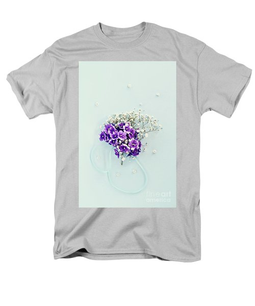 Baby's Breath And Violets Bouquet Men's T-Shirt  (Regular Fit)