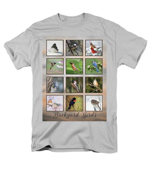Men's T-Shirt  (Regular Fit) featuring the photograph Backyard Birds by Lori Deiter