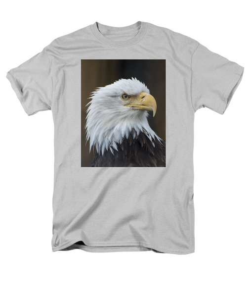 Bald Eagle Portrait Men's T-Shirt  (Regular Fit) by Gary Lengyel