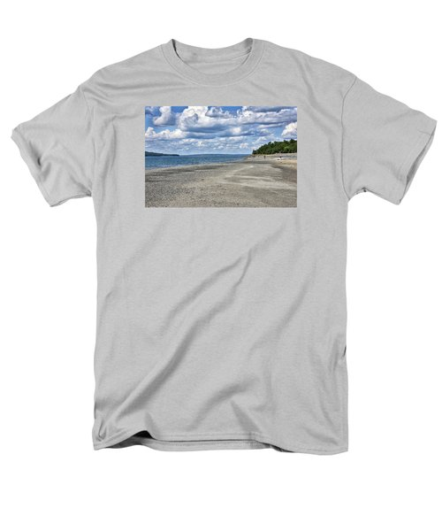 Bar Harbor - Land Bridge To Bar Island - Maine Men's T-Shirt  (Regular Fit)
