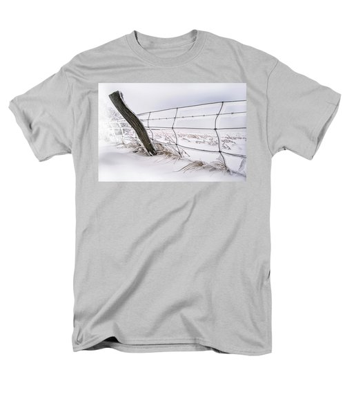 Barbed Wire And Hoar Frost Men's T-Shirt  (Regular Fit) by Dan Jurak