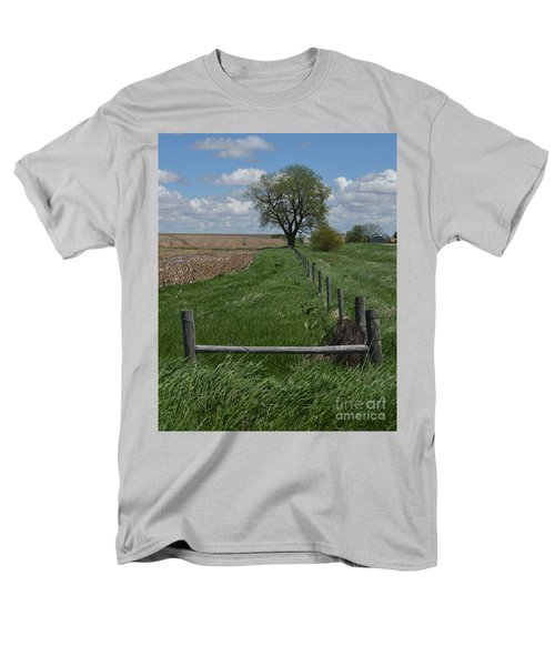 Barbed Wire Fence Line Men's T-Shirt  (Regular Fit) by Renie Rutten
