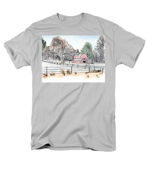 Barn In Winter Woods Men's T-Shirt  (Regular Fit) by R Kyllo