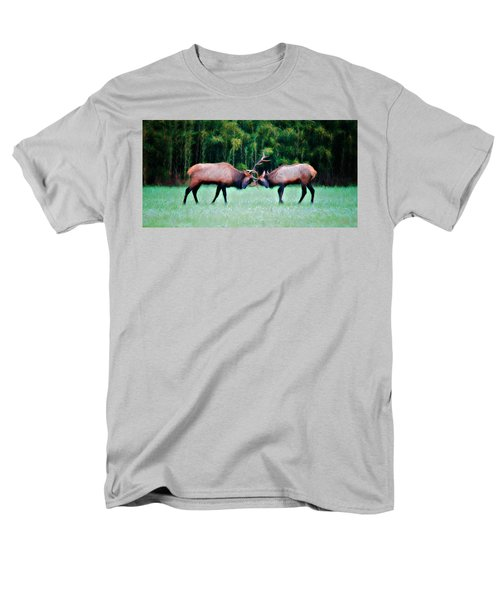 Battling Bulls Men's T-Shirt  (Regular Fit) by Lana Trussell
