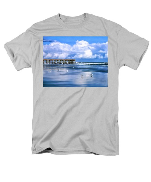 Beach At Isle Of Palms Men's T-Shirt  (Regular Fit) by Dominic Piperata