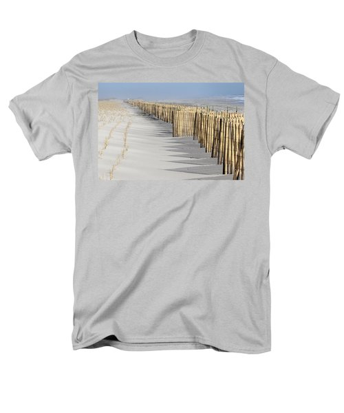 Beach Fence Shirley New York Men's T-Shirt  (Regular Fit) by Bob Savage