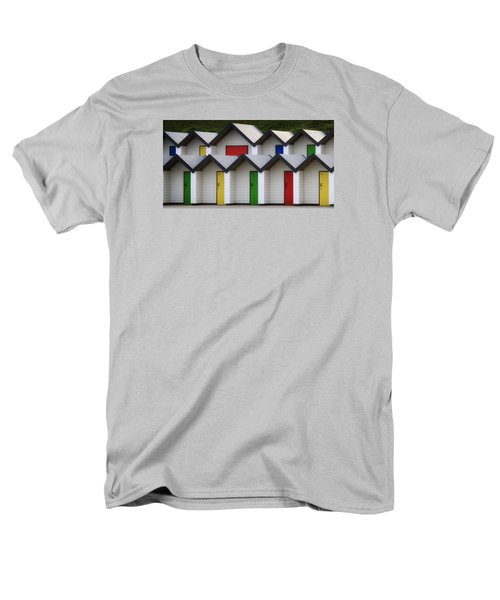 Men's T-Shirt  (Regular Fit) featuring the photograph Beach Huts by Shirley Mitchell