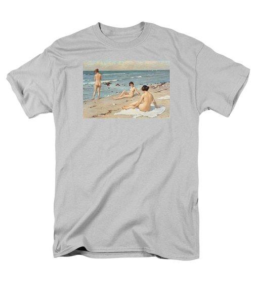 Beach Scenery With Bathing Women Men's T-Shirt  (Regular Fit) by Paul Fischer