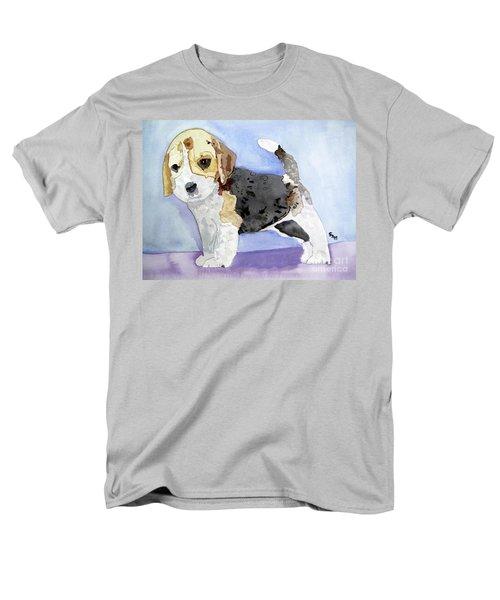 Beagle Pup Men's T-Shirt  (Regular Fit) by Sandy McIntire