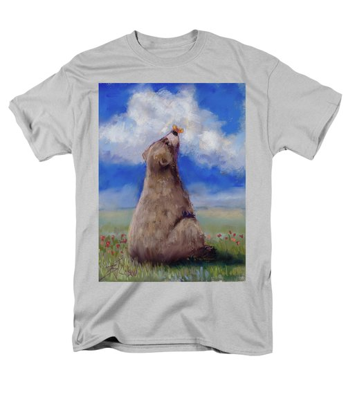 Men's T-Shirt  (Regular Fit) featuring the pastel Bear And Butterfly by Billie Colson